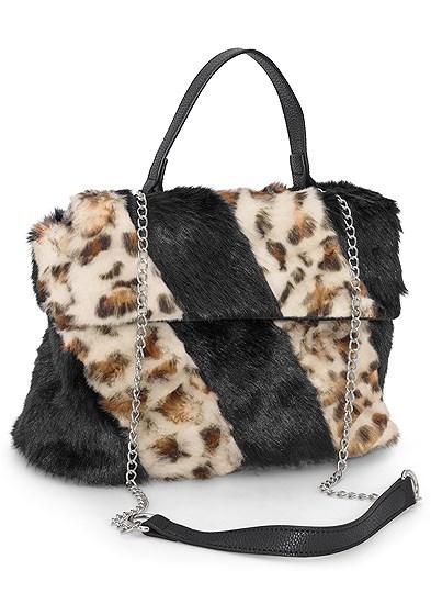 Faux Fur Print Bag