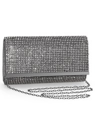 Front View Rhinestone Clutch
