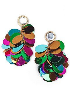 paillette earrings