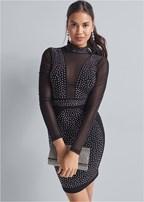 mesh inset dress