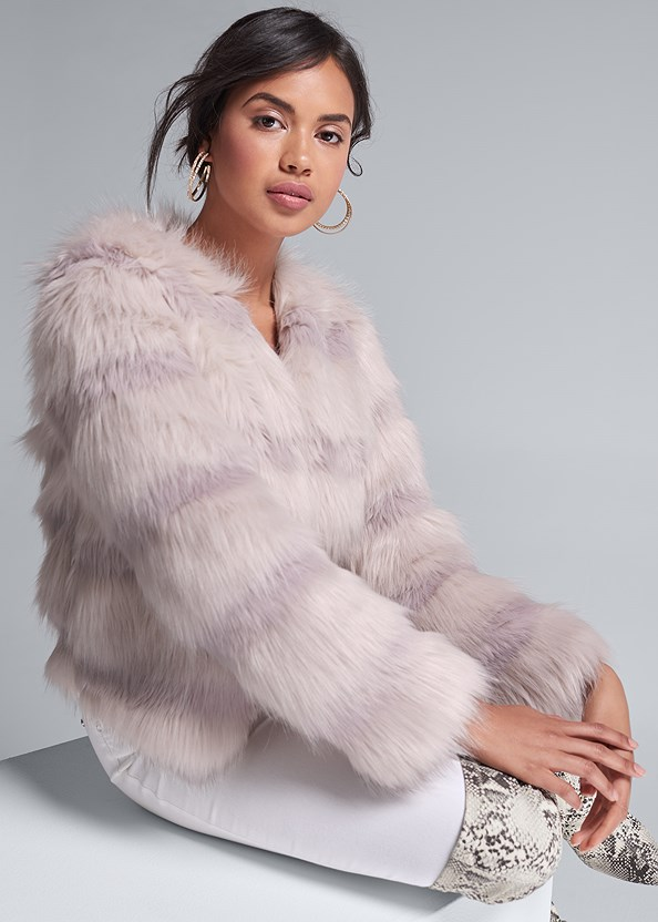Faux Fur Coat,Basic Cami Two Pack,Mid Rise Color Skinny Jeans,Animal Print Boots
