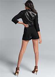 Back View Faux Leather Romper