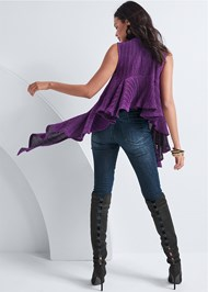 Alternate View Lurex Ruffle Detail Top