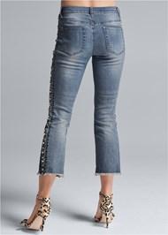Back View Tweed Stripe Jeans