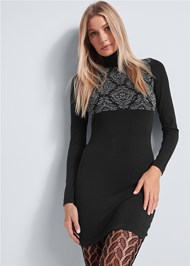 Front View Cozy Sweater Dress
