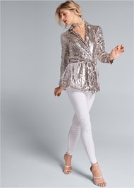 Alternate View Sequin Blazer