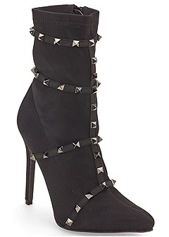 stud detail booties
