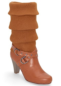 slouch buckle detail boot