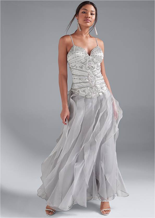 Front View Embellished Gown