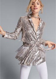 Front View Sequin Blazer