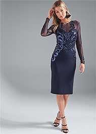 Front View Sequin Bodycon Dress
