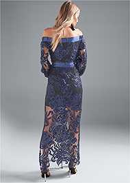 Back View Sequin Gown