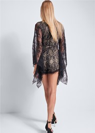 Back View Lace Detail Romper