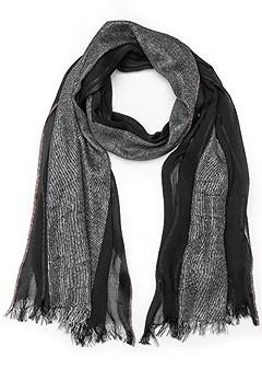 lurex detail scarf
