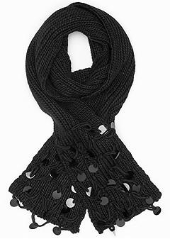 paillette detail scarf
