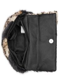 Alternate View Faux Fur Print Bag