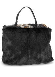 Back View Faux Fur Print Bag