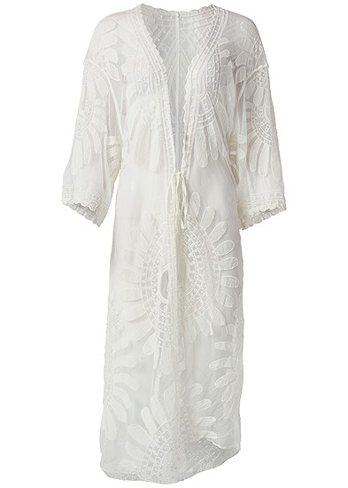 Plus Size Lace Kimono Cover-Up