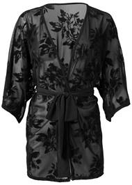 Alternate View Velvet Floral Mesh Robe