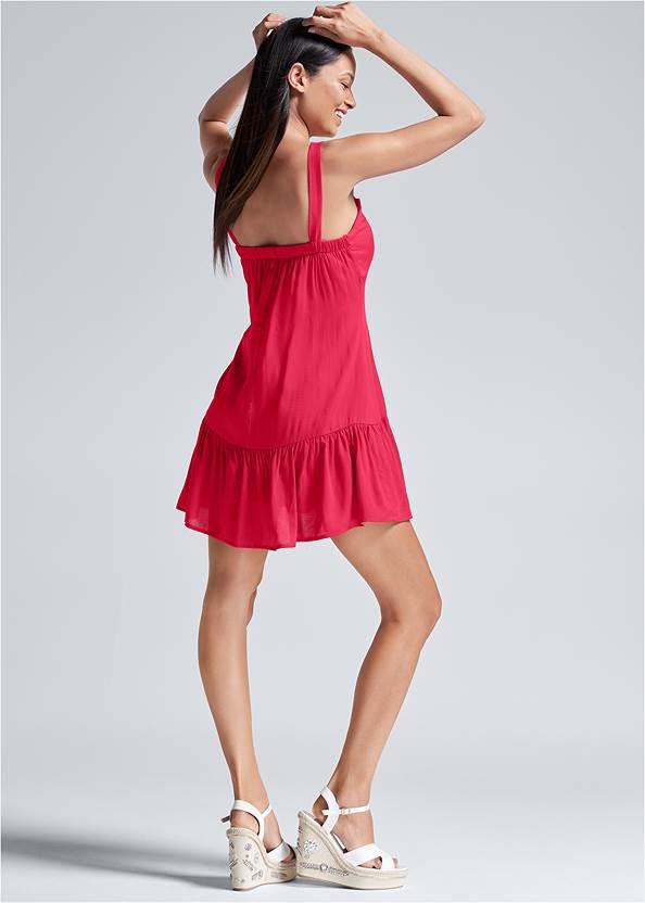 Full back view Tiered Mini Dress