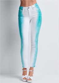 Detail side view Tie Dye Stripe Jeans