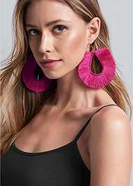 Alternate View Oversized Fringe Earrings
