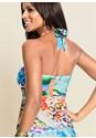 Full  view Printed Halter Dress