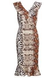 Full  view Mixed Animal Print Dress