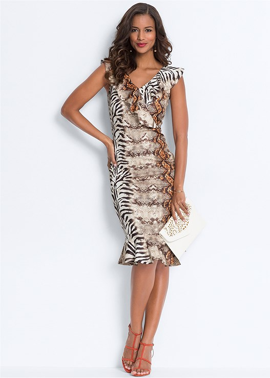 MIXED ANIMAL PRINT DRESS,PUSH UP BRA BUY 2 FOR $40,STRAPPY HEELS