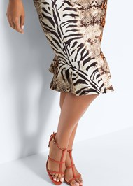 Full  view Mixed Animal Print Dress