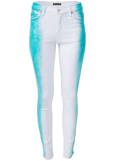 Plus Size Tie Dye Stripe Jeans