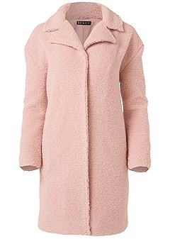 plus size fleece coat