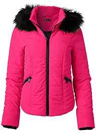 Alternate View Faux Fur Trim Puffer Jacket