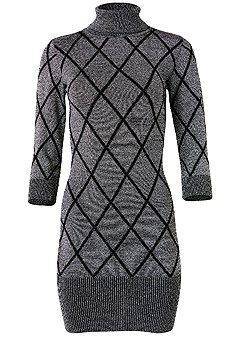 plus size turtleneck sweater dress