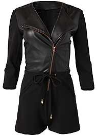 Alternate View Faux Leather Romper