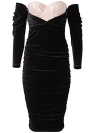 Ghost with background  view Velvet Bodycon Dress