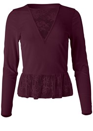 Alternate View Velvet And Lace Top