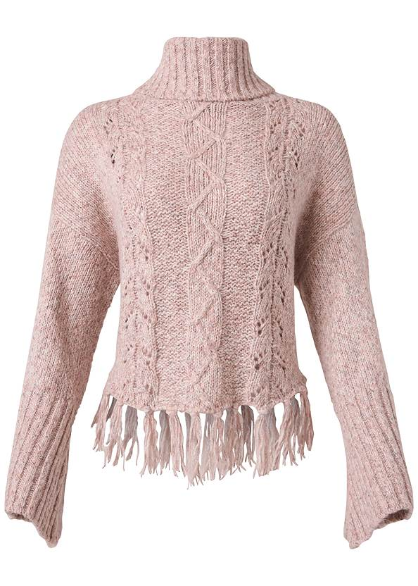 Alternate View Cable Knit Turtleneck