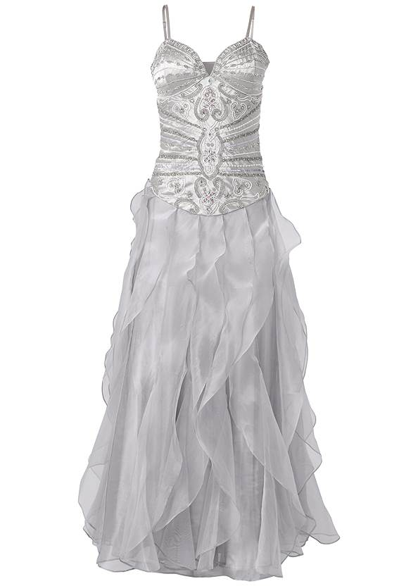 Alternate View Embellished Gown