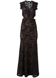 Alternate View Lace Cut Out Evening Dress