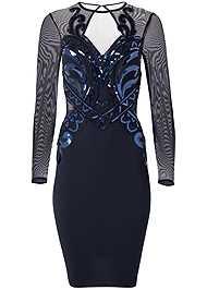 Alternate View Sequin Bodycon Dress