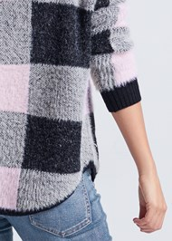 Alternate View Cozy Plaid Sweater