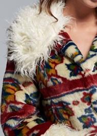 Alternate View Printed Faux Fur Coat