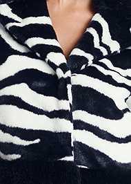 Alternate View Faux Fur Zebra Print Coat