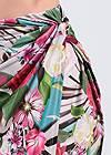 Detail front view Tropical Print Midi Skirt