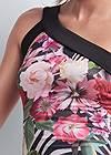 Detail front view Tropical Print Dress