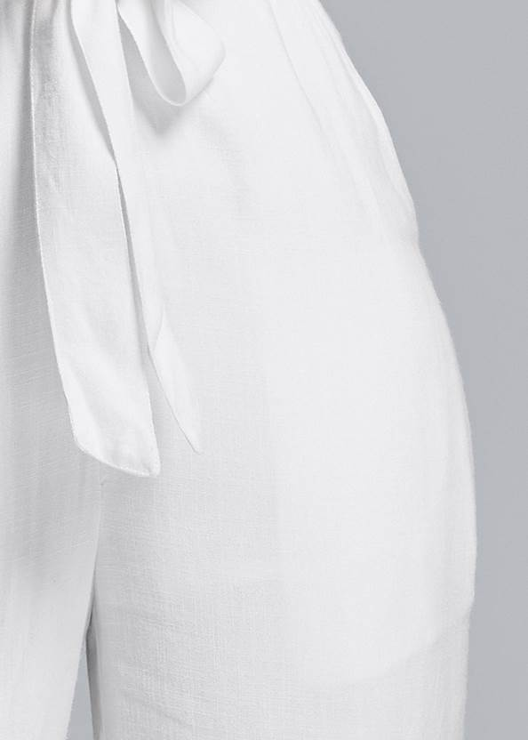 Alternate View Smocked Linen Jumpsuit