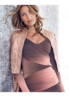 ruched ombre top