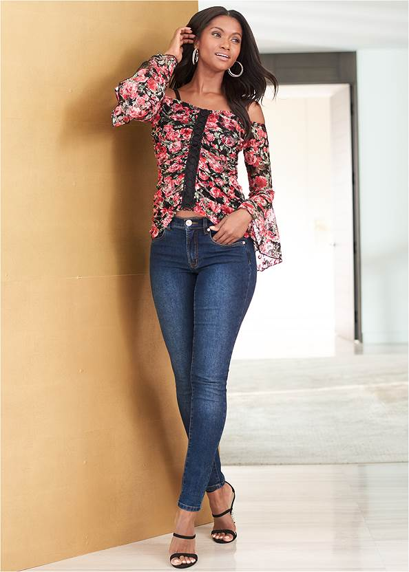 Alternate View Floral Lace Top
