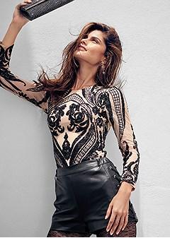 sequin detail bodysuit
